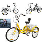 "24"" 3 Wheel Adult Bike Tricycle Basket Trike Cruise 6 Speed Shimano 3 Color"