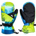 QUIKSILVER MISSION YOUTH MITT BLUE SULPHUR ICEY CHECK