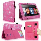 For Amazon Kindle Fire HD 7 2012 Leather Folio Stand Case Hand Strap Card Holder