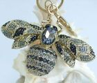 "Unique 3.94"" Insect Bee Honeybee Keychain Pendant Rhinestone Crystal K06608"