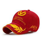 Star Signature Wheat 3D Embroidery Sports Baseball Racing Caps Motorcycle Hat
