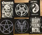 DEATH KURN OBITUARY KREATOR SAMAEL MORBID ANGEL  NAPALM DEATH PENTAGRAM patches