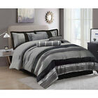 Luxury Jacquard 7 Piece Quilted Bedspread Comforter Set and Matching Curtains image