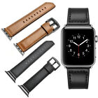 Men's Genuine Leather Watch Band Wrist Strap for Apple Watch iWatch Series 1 2 3