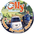 "OLLY THE LITTLE WHITE VAN ROUND 8""  CAKE TOPPER ICING OR RICEPAPER"