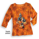 Cat  Cats And Pumpkins Halloween Tops 2XL