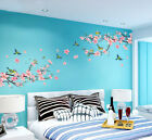 Внешний вид - Room Peach Blossom Flower Butterfly Wall Stickers Vinyl Art Decals Decor Mural
