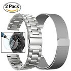 Gear S3 Watch Bands, 22mm Stainless Steel Replacement Band - 2 Silver