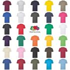 Fruit of the Loom Mens Womens 100% Cotton Plain Blank Tee T-Shirt image