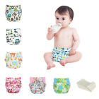 Adjustable Reusable Cloth Diapers Lot Baby Washable Nappies With 5 Pcs Inserts