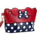 Women Travel Cosmetic Bag Cartoon Bow Hand Holding Case Zipper Makeup Bag TOP