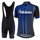Didoo Pro Mens Team Racing Performance Cycling Jersey and Padded Bib Short Set