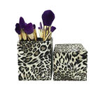 PU Leather Cosmetic Cup Case Makeup Brush Pen Holder Empty Storage Box Organizer