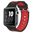 PASBUY 63B Silicone Replacement Strap Watch Band for Apple Watch Series 3 2 1