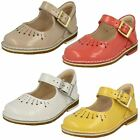 Girls Clarks Yarn Jump Patent Leather First Walking Shoes F, G & H Fittings