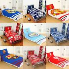 Cotton Blend - NEW FOOTBALL CLUB SINGLE DUVET QUILT COVER SETS BOYS KIDS BEDROOM