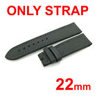 22mm Black/Gray/Green Canvas Leather Strap Band for Breitling Watch 20mm Buckle