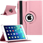 New iPad Case 360 Leather Stand Flip Folio Cover For Apple iPad 5th Gen 2017 9.7
