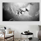 Decor Black & White Love Kiss Abstract Art Canvas Painting Wall Print Picture UK