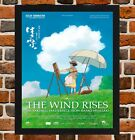Framed The Wind Rises Movie Poster A4 / A3 Size In Black / White Frame