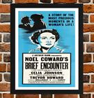 Framed Brief Encounter Movie Poster A4 / A3 Size In Black / White Frame.