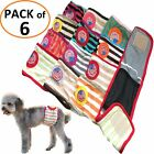 PACK of 6pcs Dog Diapers RANDOM Colors Male Boy BELLY BAND Wrap For Small Pet