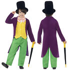 Smiffys Childs Willy Wonka Chocolate Factory Costume New Roald Dahl Fancy Dress