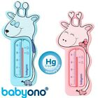 Baby Bath Thermometer Giraffe Floating pink blue Cute Safety Babyono new