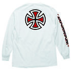 INDEPENDENT BAR/CROSS MEN'S LONG SLEEVE T-SHIRT WHITE