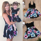 US Family Clothes Lady's Mother Daughter Matching Summer Baby Girl Dress Outfit