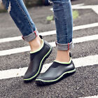 Rubber Waterproof Ankle Rain Boots Mens Womens Car Wash Garden Muck Mud Shoes