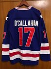 Jack OCallahan 17 1980 Miracle On Ice USA Hockey Jersey blue All stitched
