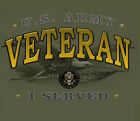 U.S.Army Strong Veteran I Served MILITARY GREEN Adult Shirt