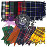 More images of CC Kilt Fly Plaid 48 X 48 Scottish Highland Fly plaid Brooch / Flashes / Pin Set