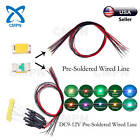 0402 0603 0805 1206 SMD Pre Wired DC9 12V Warm White Red Blue RGB LED Diodes