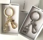 Michael Kors Bag Charm Keyring Pave Lock and Key - Gold or Silver Key Charm