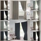 Thermal Blackout Curtain Eyelet Ring Top Pencil Pleat Curtain Pair Bonus Tieback