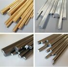 Aluminium, Brass, Stainless & Mild Steel Rod Bar 3, 4, 5, 6, 8, 10 & 12mm Dia