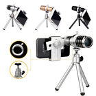 Universal 12X Zoom Phone External Lens Telephoto Telescope Camera Lens + Tripod
