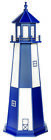 Amish Poly Garden Lighthouse - Cape Henry Patriot Blue & White - Lighting Option