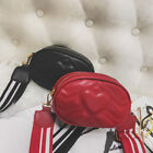 Stylish Quilted Chevron PU Leather Fanny Pack Waist Bag Belt Bag Red Black