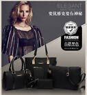 NEW Fashion Women's Nylon Handbag Shoulder Bag Clutch Wallet 6-piece Luxury