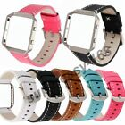 Replacement Fashion Leather Strap Wrist Band+ Frame For Fitbit Blaze Smart Watch image