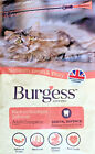 BURGESS ADULT CAT SCOTTISH SALMON : 1.5kg or 10kg Complete Dry Food bp Biscuits