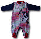 Jumpsuit with foot Little girl in cotton Jersey. MINNIE - WD101082. DISNEY BABY