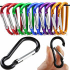 Aluminum Snap Hook Carabiner D-Ring Key Chain Clip Hiking Camp Size 50x25x4mm