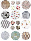 PLAIN PRINTED ROUND LUXURY PVC OIL VINYL TABLE CLOTH WIPE CLEAN PARTY EVENTS