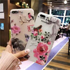 for iPhone X 6 6S 7 8 XS Max XR Case 3D floral animal painting Phone back cover
