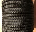 Mooring Rope, 14mm Double Braided Black, Dock Line,