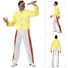 Smiffys Official Licensed Queen Freddie Mercury 80s Rock Star Fancy Dress Outfit